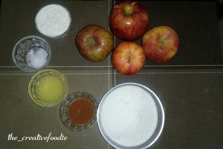 Apple pie step 01